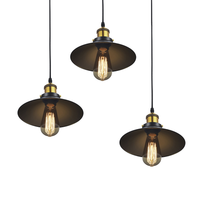 Russia Vintage Pendant Lights Retro Dining Pendant Lamp E27 Edison Black Hanging Lighting for Living Dining Room Christmas Decor