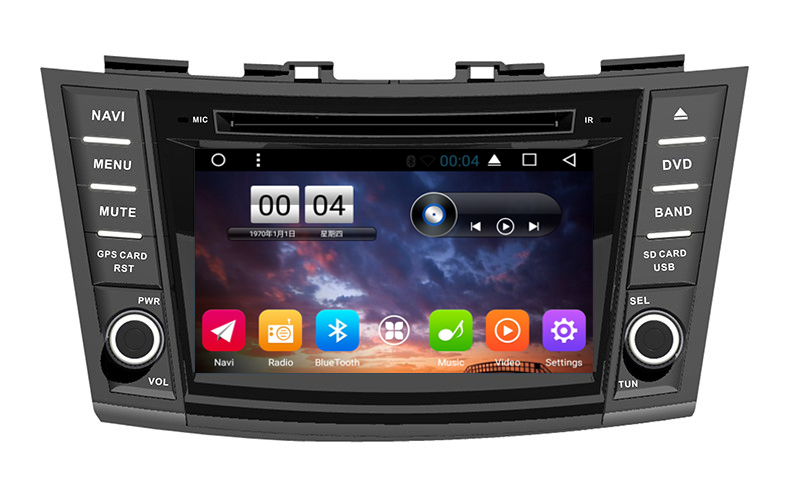 Free Shipping 7 Android 6 0 Car DVD for Suzuki swift 2012 2013 2014 Car Radio