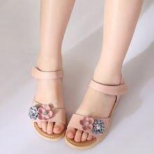 Сандалии для маленьких девочек красивые летние сандалии с цветком