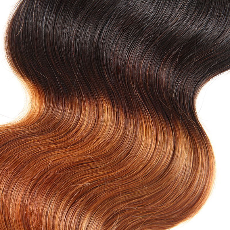 Ombre 4X4 Lace Closure Brazilian Body Wave Hair Closure With Baby Hair 1B/30 Free Part 100% Human Hair Two Tune Remy Venvee