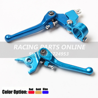 CNC Motorcycle Aluminum Alloy motorcross folding Clutch and Brake Lever for CRF XR 50 KLX110 SDG Pit Dirt Bikes free shipping