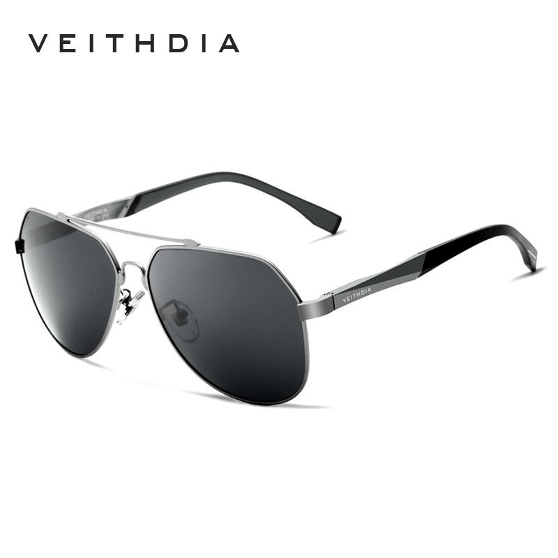 1d380158f VEITHDIA Polarizada de Alumínio E Magnésio óculos de Sol dos homens da  Marca Azul Lente Óculos Óculos De Sol Para Homens Masculino oculos de grau  3598