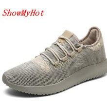 ShowMyHot/мужские кроссовки Hombres zapatos; обувь для взрослых; повседневная мягкая обувь; дышащая обувь на плоской подошве; удобная теннисная обувь; feminino