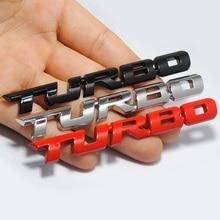 Фирменная 3D наклейка для стайлинга автомобилей Металлическая Эмблема Turbo задний значок задней двери для Ford Focus 2 3 ST RS Fiesta Mondeo Tuga Ecosport Fusion