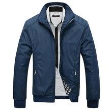 Männer jacke männlichen casual slim fit stehkragen solide jacken m-xxxl marke neue 2017 herrenmode mantel clothing