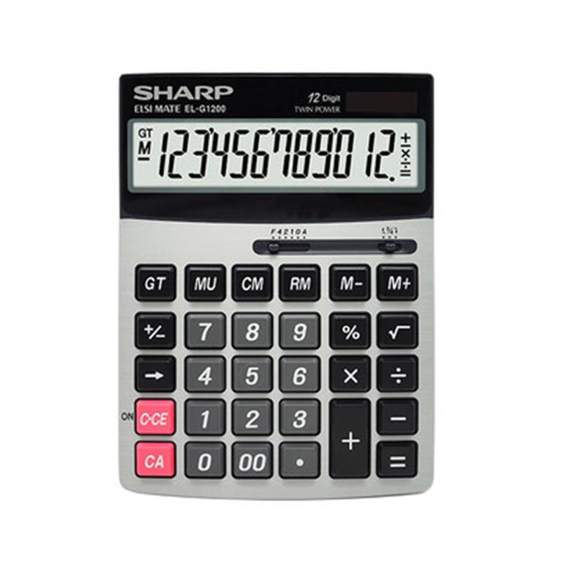 SHARP Calculator EL-G1200 Big Screen Big Button Financial Office Solar Computer ninelle ultimate 337