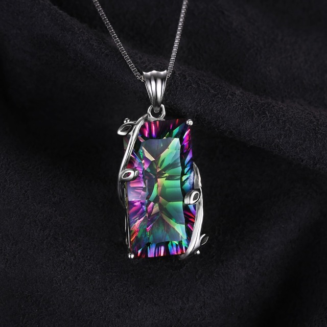 16ct Fire Rainbow Mystic Topaz Necklace
