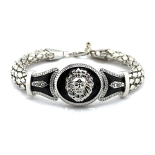 New Hot-selling Celebrity Style Lion Head Charms with Rope Chain Bracelet  Rhodium Plating Free Shipping