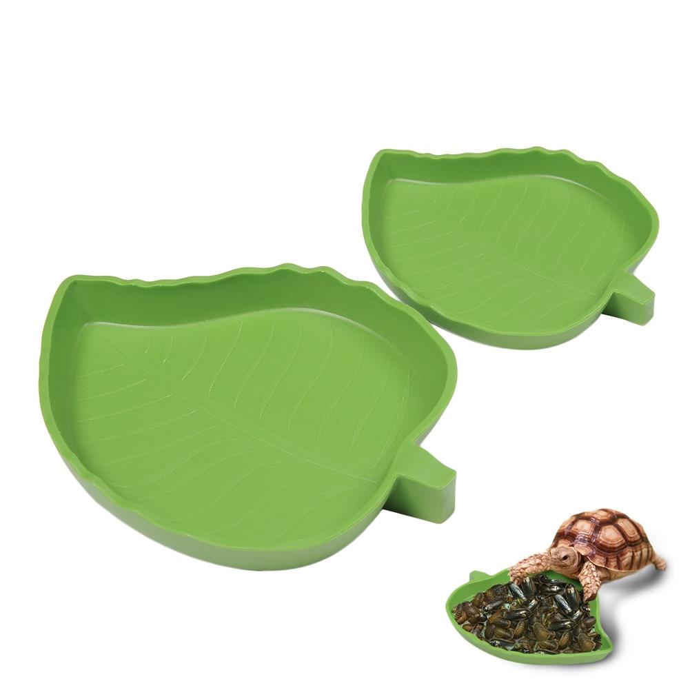 Amphibians Reptiles Feeder Plastic Reptile Terrarium Feeding Basin Tortoise Lizard Crawler Bowl Basin Water Fountain For Turtles