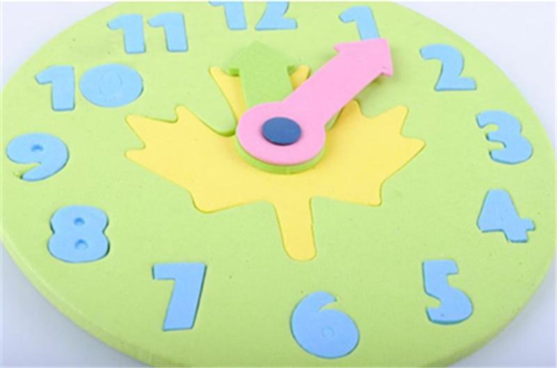 1 шт. Детские Обучающие Развивающие игрушки украшение «сделай сам» Часы забавная математическая игра для детская игрушка Подарки