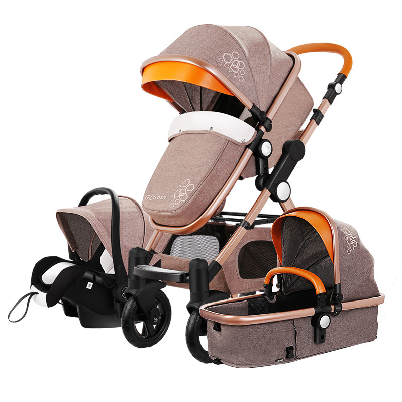 Goldbaby stroller high landscape can sit or lie shock deck children bb baby stroller free delivery