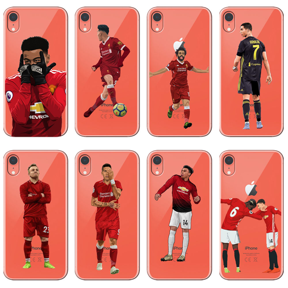 Analytical Paul Pogba, Fermino Mohamed Salah Cr7 Football Star For Phone Cover Iphone Max Xr Xs X10 5 5s 5se 6 6s 7 8plus Football Jersey