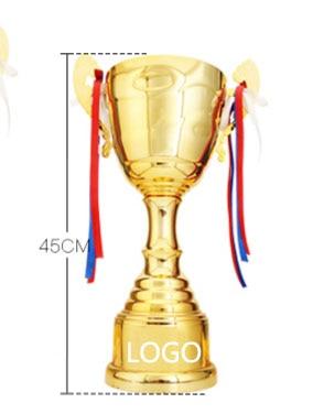 Горячие спортивные Футбол спортивные премии трофей Чашки золотистые металлические Кубка спортивные трофеи наградных медалей 45 см высота