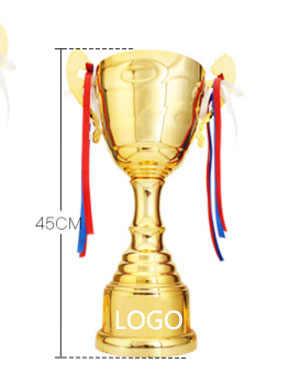 Горячие спортивные футбольные спортивные призы награда трофей чашки позолоченное металлическое Кубок трофей спортивные трофеи награда, медали 45 см высота