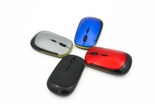 New U Shaped Slim Wireless Mouse USB 2 4G Optical Mice 10M Working Distance Mouses for