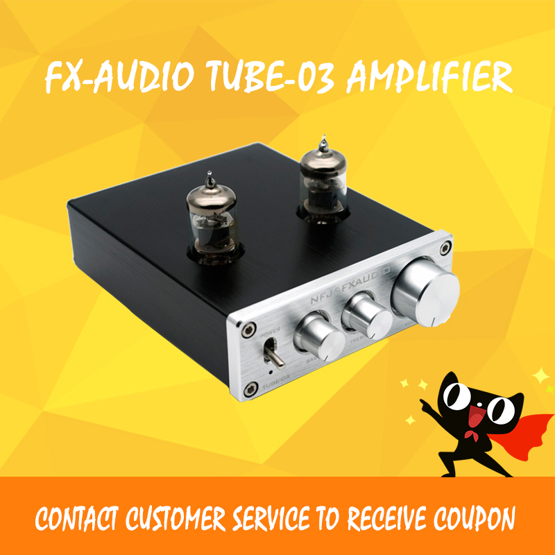 FX-AUDIO TUBE-03 Bile Preamp Tube Amplifier 6J1 Tube HIFI Audio Valve & Vacuum Tube DC12V