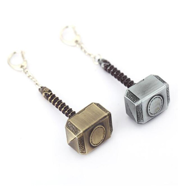 GWTS 12pcs/lot Wholesale Thor's Hammer Mjolnir Keychain New Pewter Keyring Thor Chain For Women Men Jewelry Wholesale