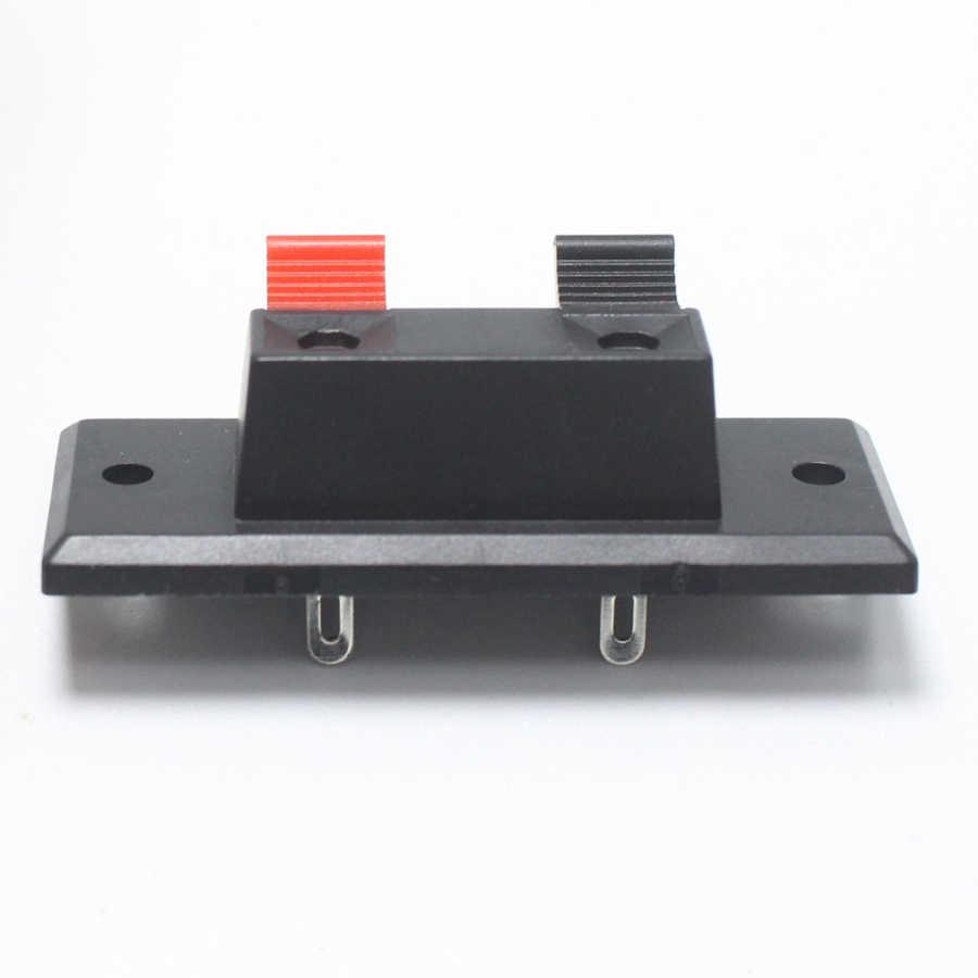2 sztuk 2 pinowe WP zewnętrzne gniazdo bananowe wzmacniacz głośnikowy uchwyt do kabla gniazdo Audio WP2-3 2 LED na słupku przełącznik sprężynowy