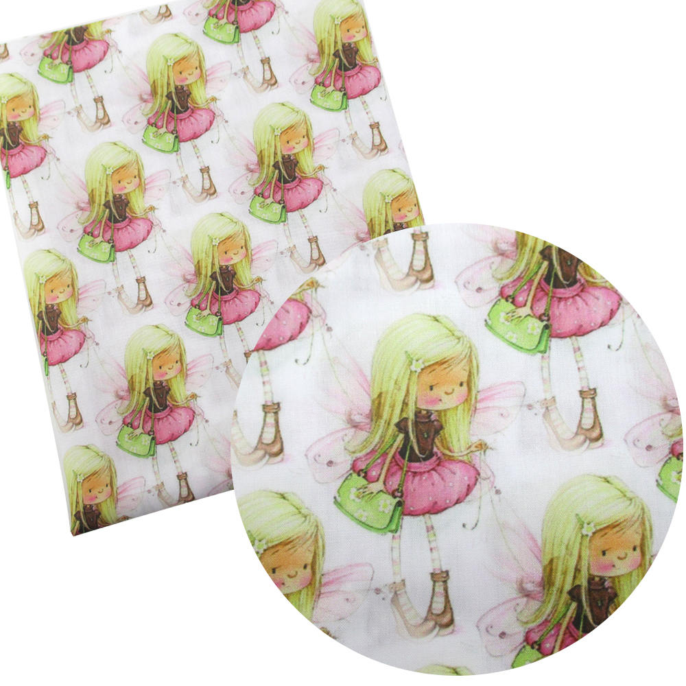 David accessories 50*145cm girls patchwork Polyester cotton fabric for Tissue Kids home textile for Sewing Tilda Doll,c2791