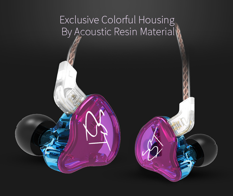 AK Original KZ ZST Colorful BA+DD In Ear Earphone Hybrid Headset HIFI Bass Noise Cancelling Earbuds With Mic Replaced Cable ZSN 8