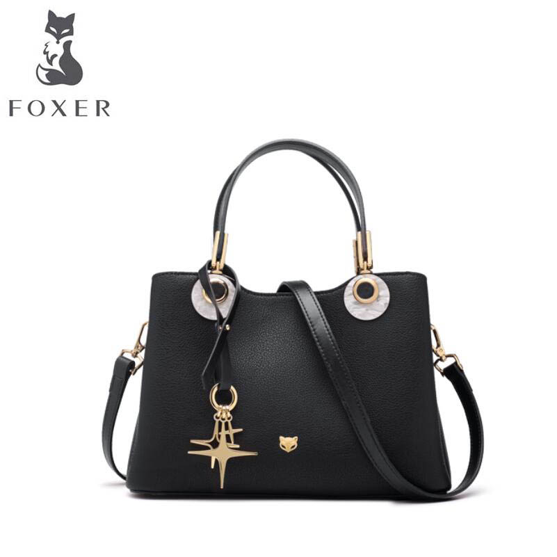 FOXER 2018 New Women leather bag designer famous brand leather women Cowhide bag Casual fashion tote women leather shoulder bag