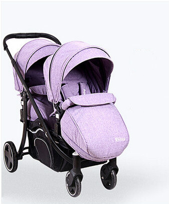 Winter or summer twin stroller can sit sit lie before and after the break up the double trolley folding suspension