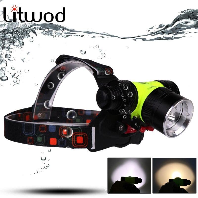 Scheinwerfer EntrüCkung Litwod Z20 D802 Led Tauchen Scheinwerfer Scheinwerfer 18650 Batterie Aaa 2 Xm-l T6 Kopf Lampe Unterwasser Wasserdicht Swiming Licht