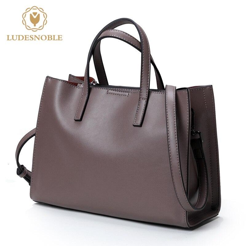 LUDESNOBLE font b Women b font font b Handbags b font Genuine Leather font b Bag