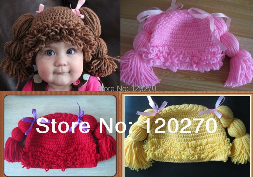 Old Fashioned Crochet Cabbage Patch Wig Pattern Ornament Sewing