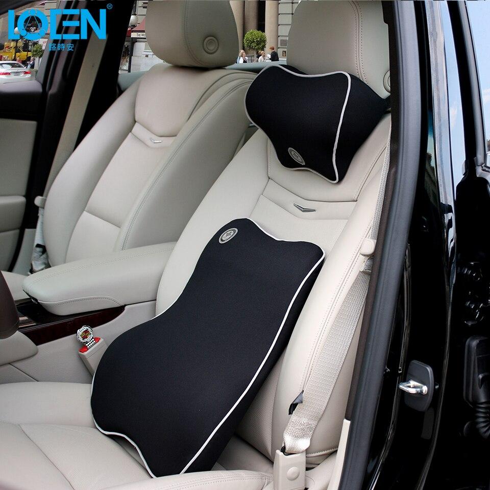 Loen 1 Set Car Neck Pillow Lumbar Support For Office Chair