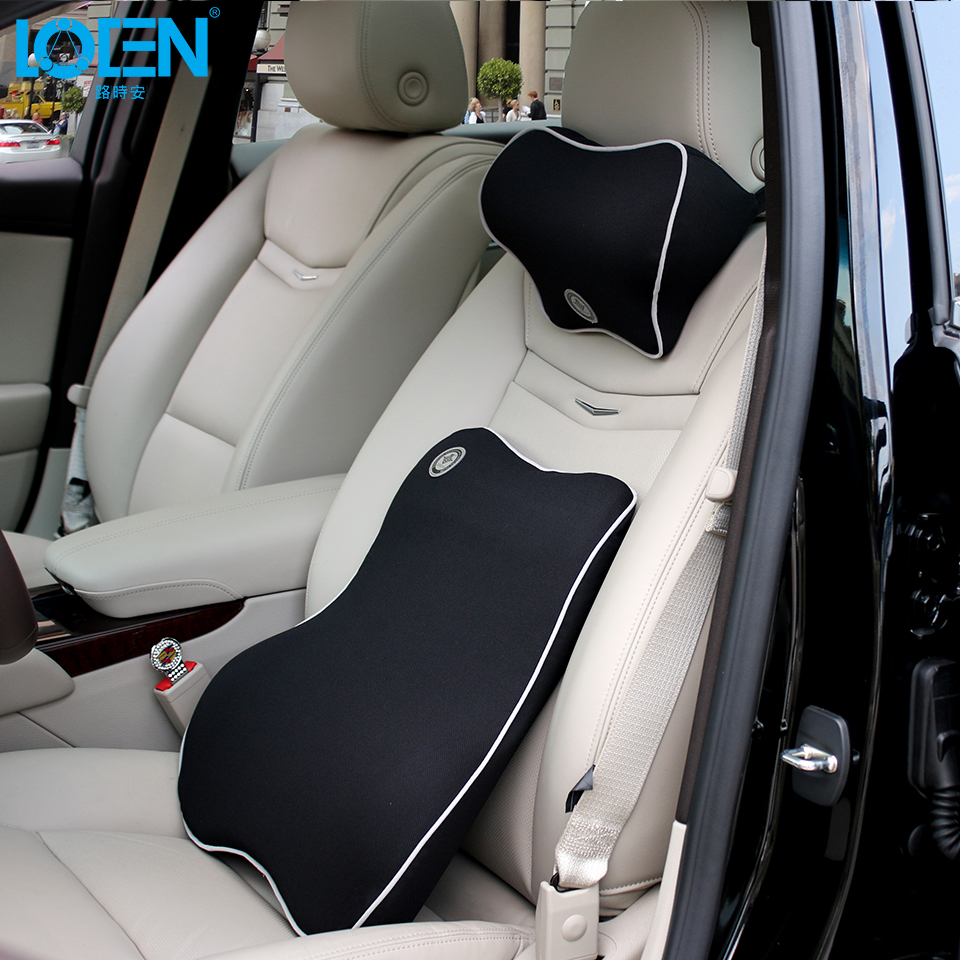 Loen 1 set car neck pillow lumbar support for office chair seat supports for back seat lumbar cushion for car back massager car