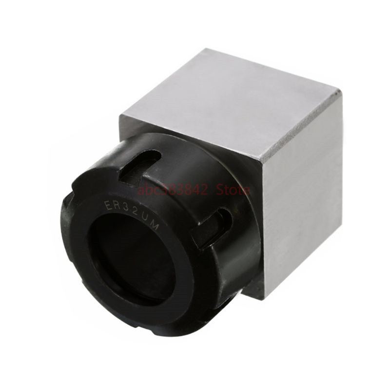 1pcs square ER32 ER25 ER40 chuck block hard steel spring chuck seat, suitable for CNC lathe engraving and cutting machine-in Tool Holder from Tools