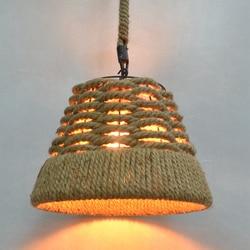 Dia 38CM Nordico lampy wiszące w stylu retro krajem ameryki oświetlenie przemysłowe LOFT wiszące lampy liny konopne oprawa oświetleniowa 110 240V Wiszące lampki    -