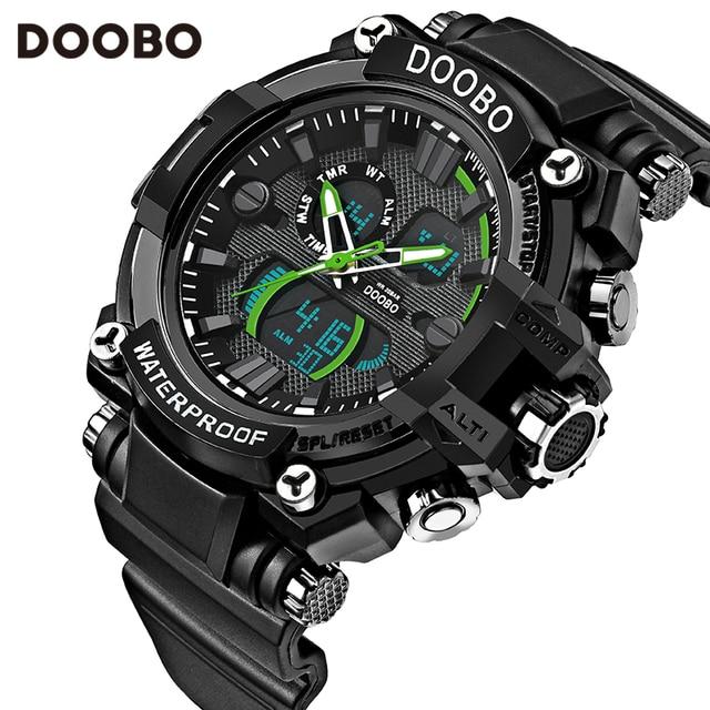 b6a0e9817c8 DOOBO Homens Relógio G Estilo de Moda À Prova D  Água LED Esporte Militar  Relógios