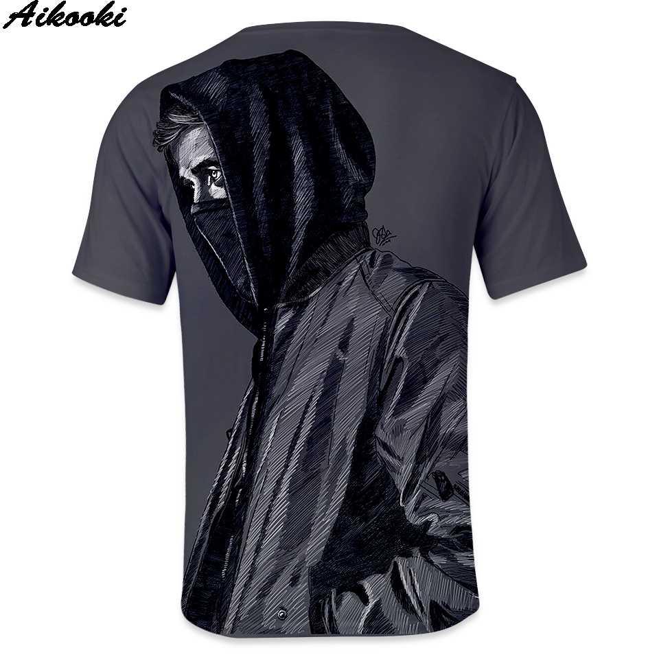Aikooki Лето 3D принт Alan Олав Walker футболка Для мужчин/Для женщин короткий рукав Футболка Alan Олав Walker Повседневное Для Мужчин's 3D футболка s Топы