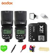 2X Godox TT600 TT600S 2,4G Беспроводная вспышка 1/8000s+ X2T-C/N/S/F/O/P триггер для Canon Nikon sony fuji olympus