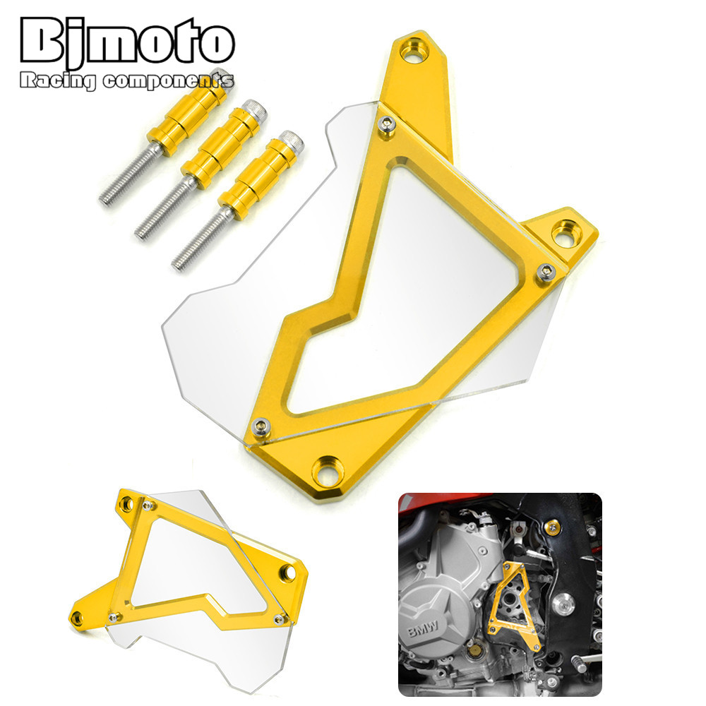 ФОТО FSC-BM001 CNC Aluminum Motorcycle Front Sprocket Guard Chain Motos Cover For BMW S1000R  2014-2015 S1000RR
