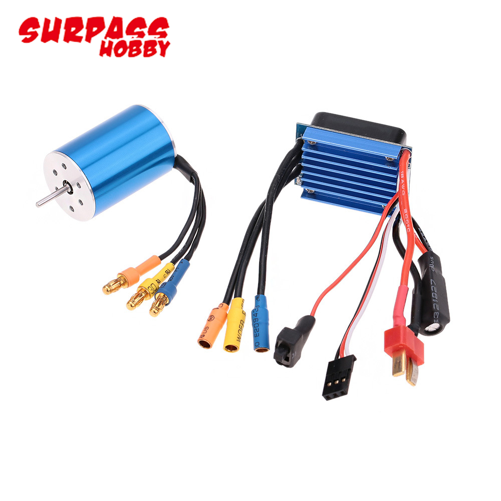 2pcs/set RC 2435 KV4800/4500/3300 Sensorless Brushless Motor with <font><b>25A</b></font> Brushless <font><b>ESC</b></font> for 1/16 1/18 RC Car Off Road Truck image