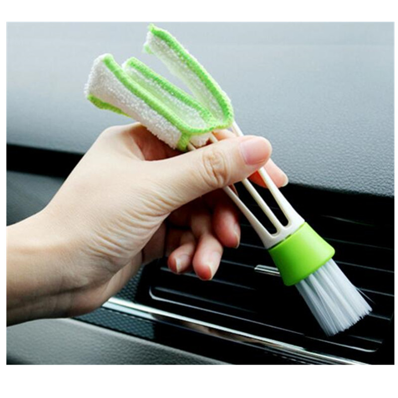 2PCS Cleaning tool for louver car brush, computer keyboard and vacuum cleaner