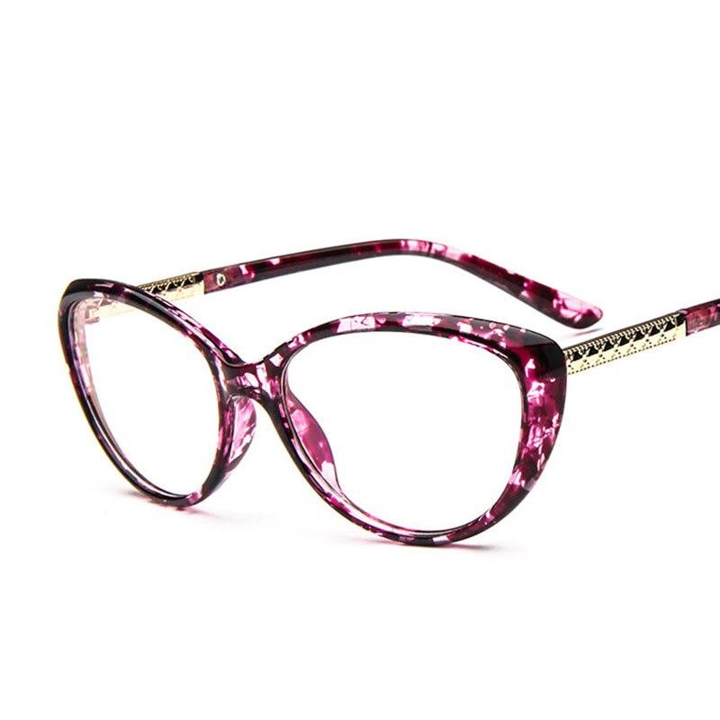 bf3948218fe0 MOLNIYA New Cat Eye Glasses Frame Women Fashionable Plastic Metal Optical  Eyewear Frame Beautiful Print Glass Frame Accessories