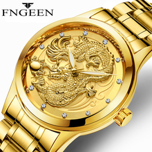FNGEEN 2018 Watch Men LIGE Fashion Dragon Quartz Clock Mens Watches Top Brand Luxury Business Waterproof Relogio Masculino