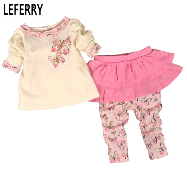 Baby Girls Clothing Set Cotton Divided Skirts Newborn Infant Clothing Girls Suit Baby Girl Clothes Set Fashion 2019 New Autumn