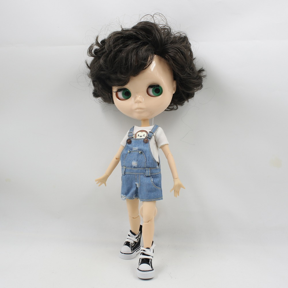 Toy Gift male doll blyth doll nude doll without makeup white skin face boy body neo
