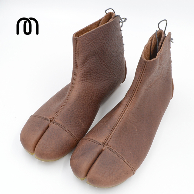 Millffy brand exclusive Ninja shoes ninja boots soft real leather shoes lady japanese shoes