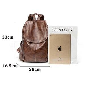 Image 5 - ZROM Women Waterproof Backpack High Quality Leather Backpacks for Teenage Girls Female School Fashion Shoulder Bag Backpacks