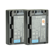 DSTE 2PCS NP-FH50 Rechargeable Battery for Sony A230 A290 A390 DSC-HX1 HX100 HX200 HDR-TG1E TG3 TG5 TG7 Camera
