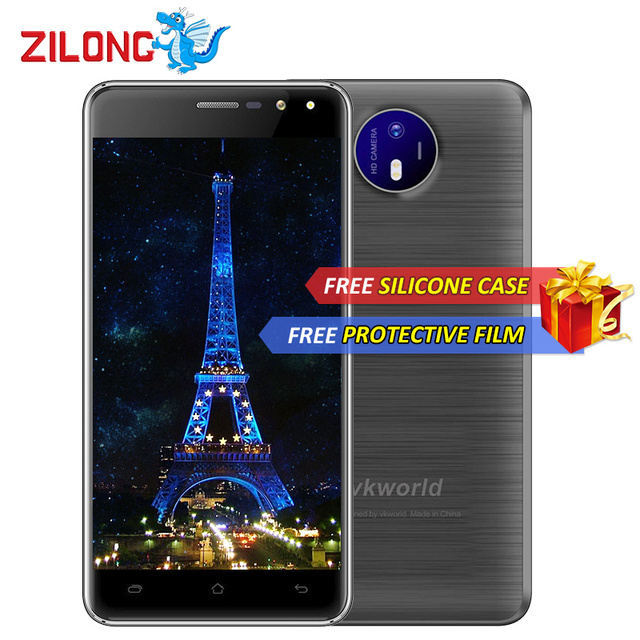 Vkworld F2 5.0 Inch IPS Android 6.0 Smartphone MT6580A Quad Core 2GB RAM 16G ROM 8MP 2200mAh Smart Gesture 3G WCDMA Mobile Phone