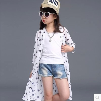2016 Summer Girls Transparent Protection Clothing Child Stars ...