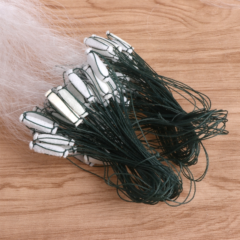 Fishing Net Single Mesh Nylon Durable Accessories Float Trap Monofilament GilER