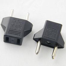 Ru/es заряда черный/белый выходе евро адаптера плоским контактный европа мощность pin